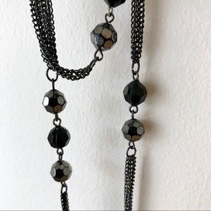 EXPRESS Double Strand Black Necklace